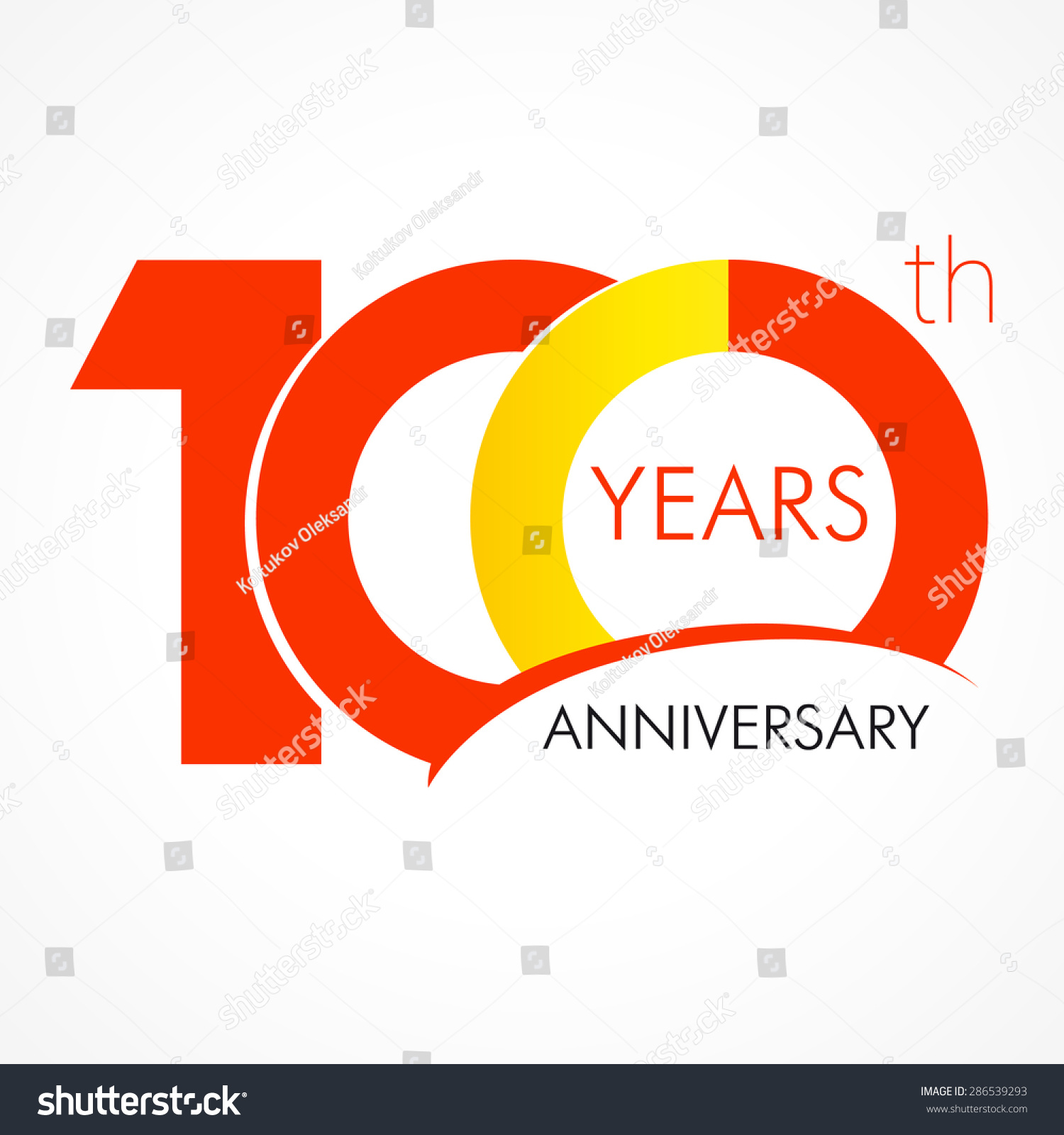 ... 100 years anniversary logo. 100 jubilee design, number 100 vector, 100