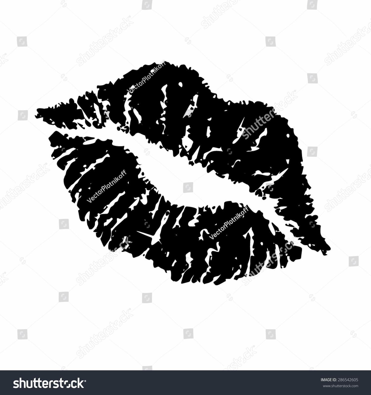 Lips Vector Black Print Black Lips Vecto...