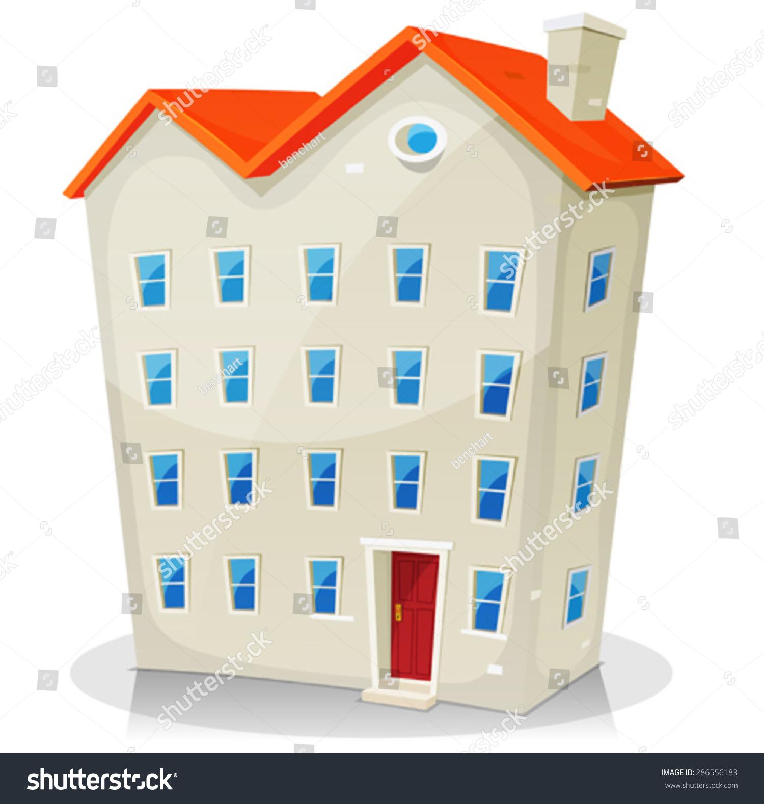 Big House Building Illustration Cartoon Big Stock Vector - Big cartoon house