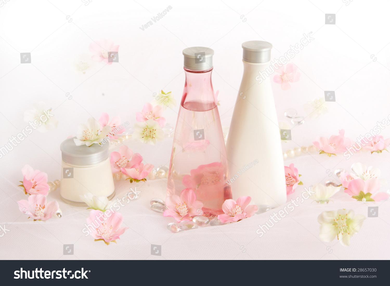 Beautifull perfume background pink white flowers stock photo beautifull perfume background with pink and white flowers mightylinksfo