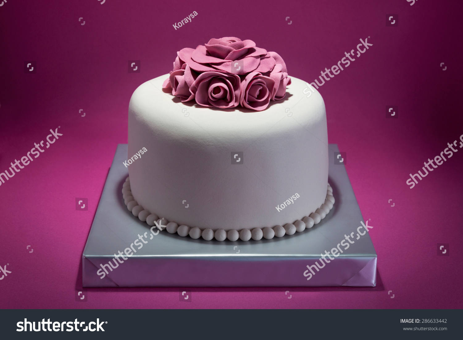 Floral Birthday Cake Stock Photo Edit Now 286633442 Shutterstock