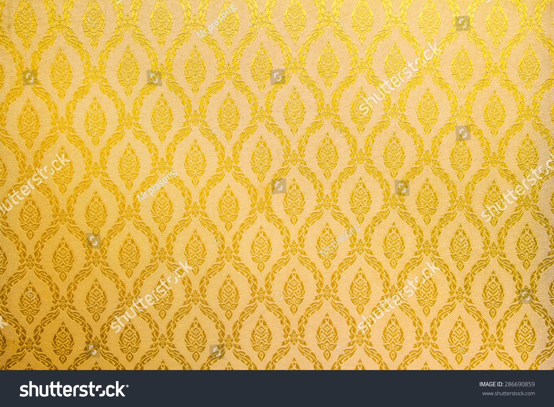 Foto De Stock Sobre Floral Wallpaper Pattern Light Yellow