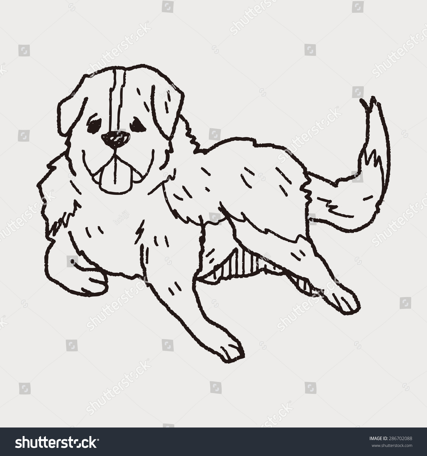 Cartoon dog stock photos images amp pictures shutterstock - Dog Doodle