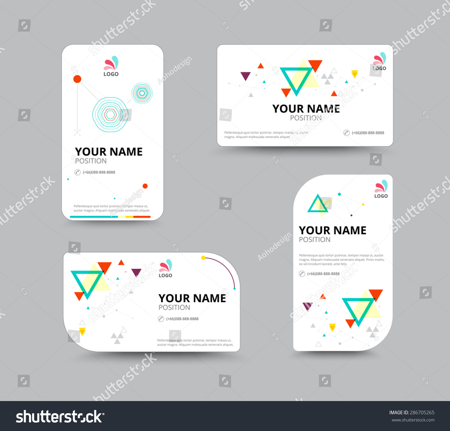 Business Card Design Template Leaflet Business Stock Vector HD ...