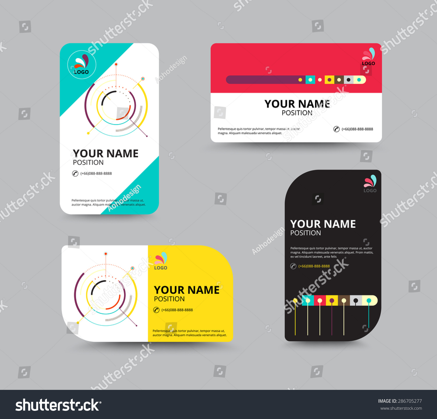 Business Card Design Template Leaflet Business Stock Vector ...