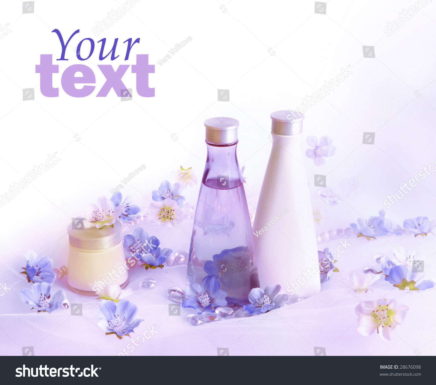 Beautiful Perfume Background Pink White Flowers Stock Photo Edit