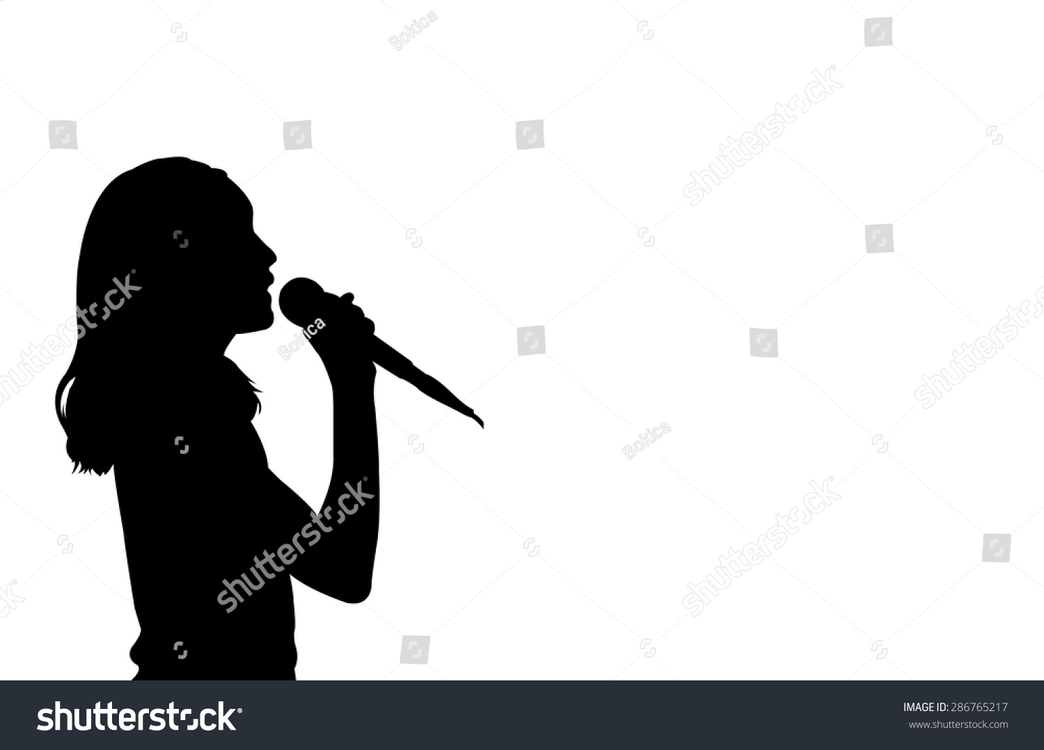 Silhouette Of Girl Sin...