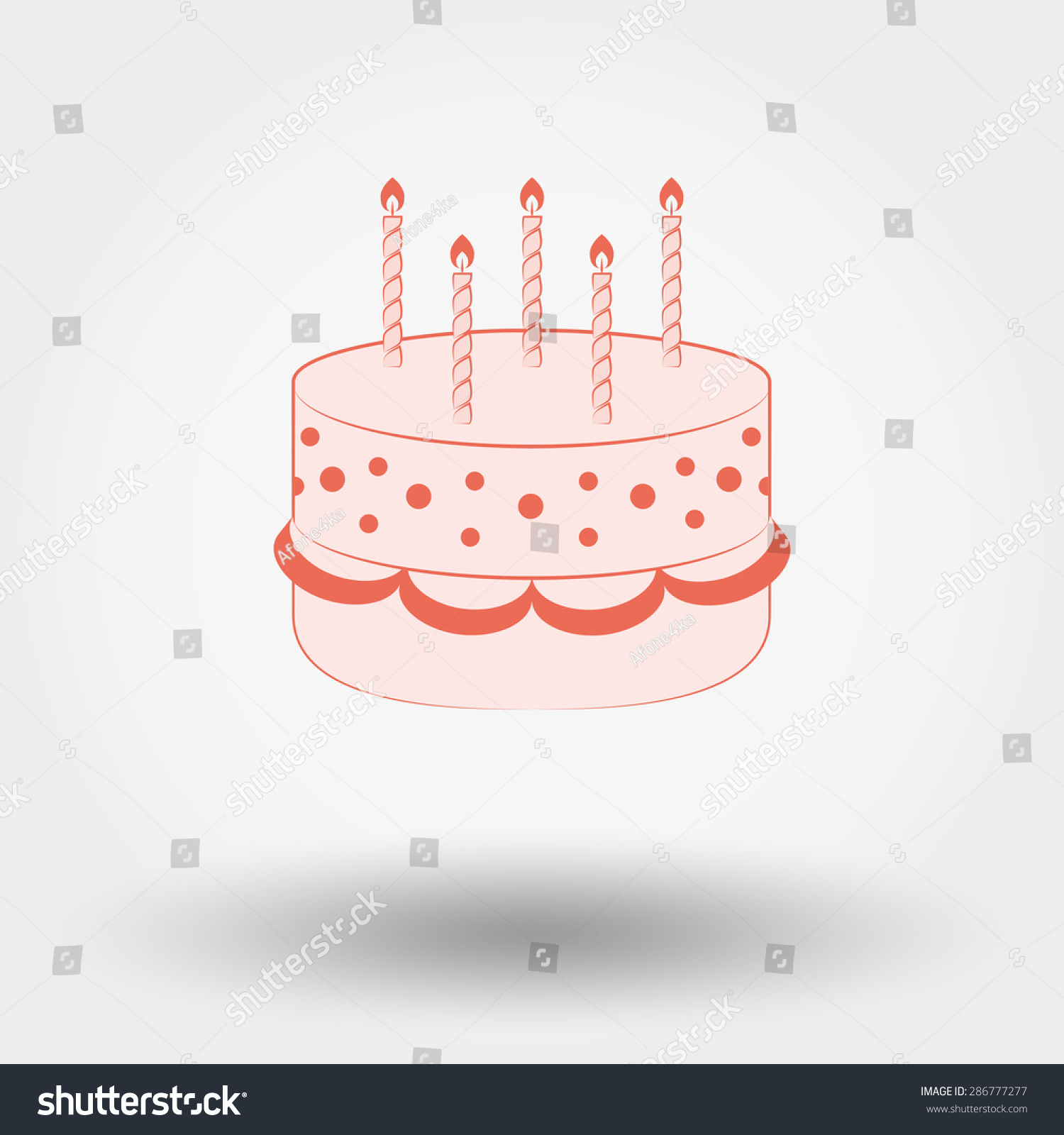 Web Icon Birthday Cake Candles Vector Stock Vector 286777277