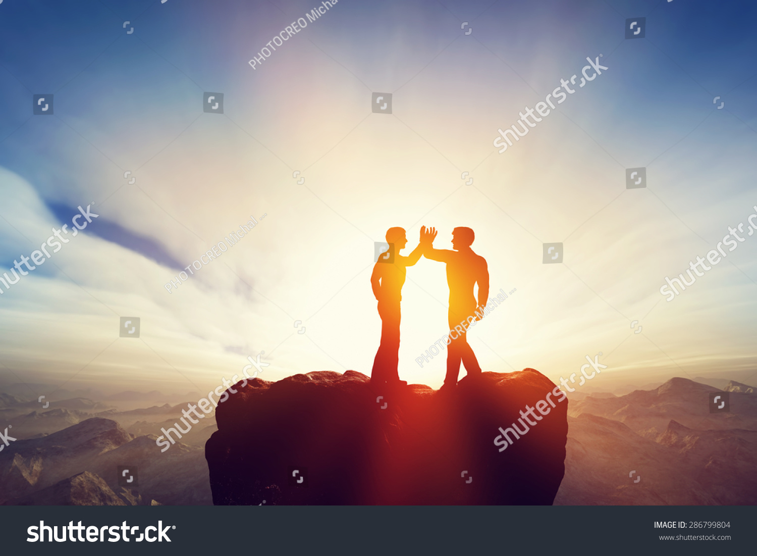 Two Men Friends High Five On Stock Illustration 286799804 Shutterstock