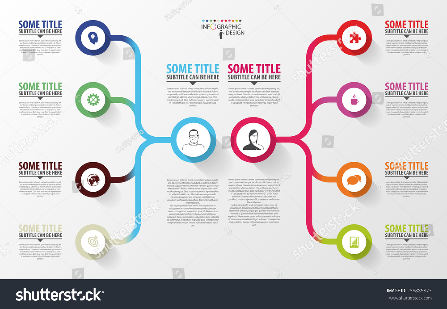 Modern infographics business plan design template stock vector business plan design template vector accmission Images