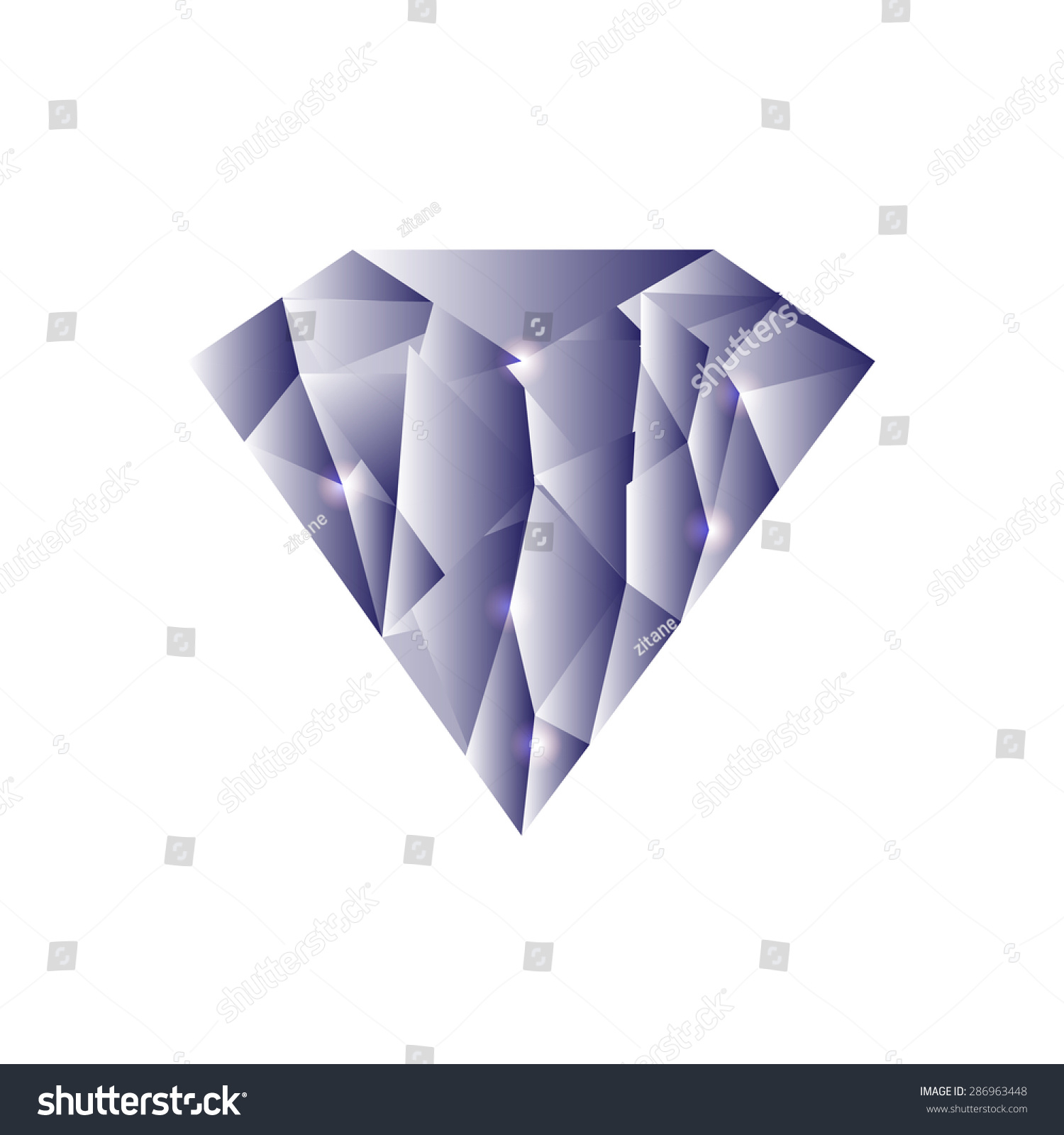 clip landscape diamond mountains for vector in origami elements polygon style art