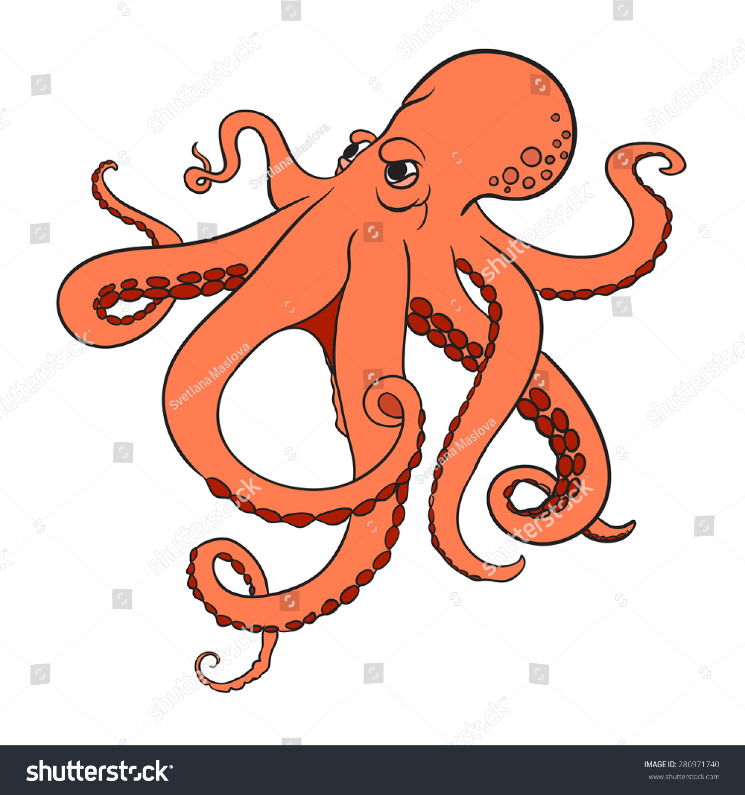 Image gallery octopus vector for Octopus in cartoon