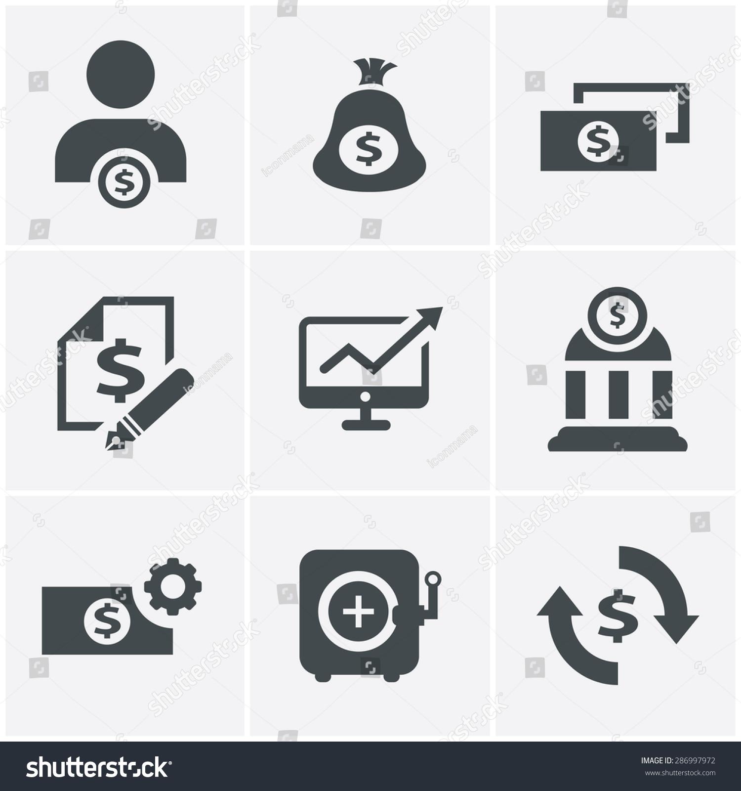 Finance Icon Set: 286997972 : Shutterstock