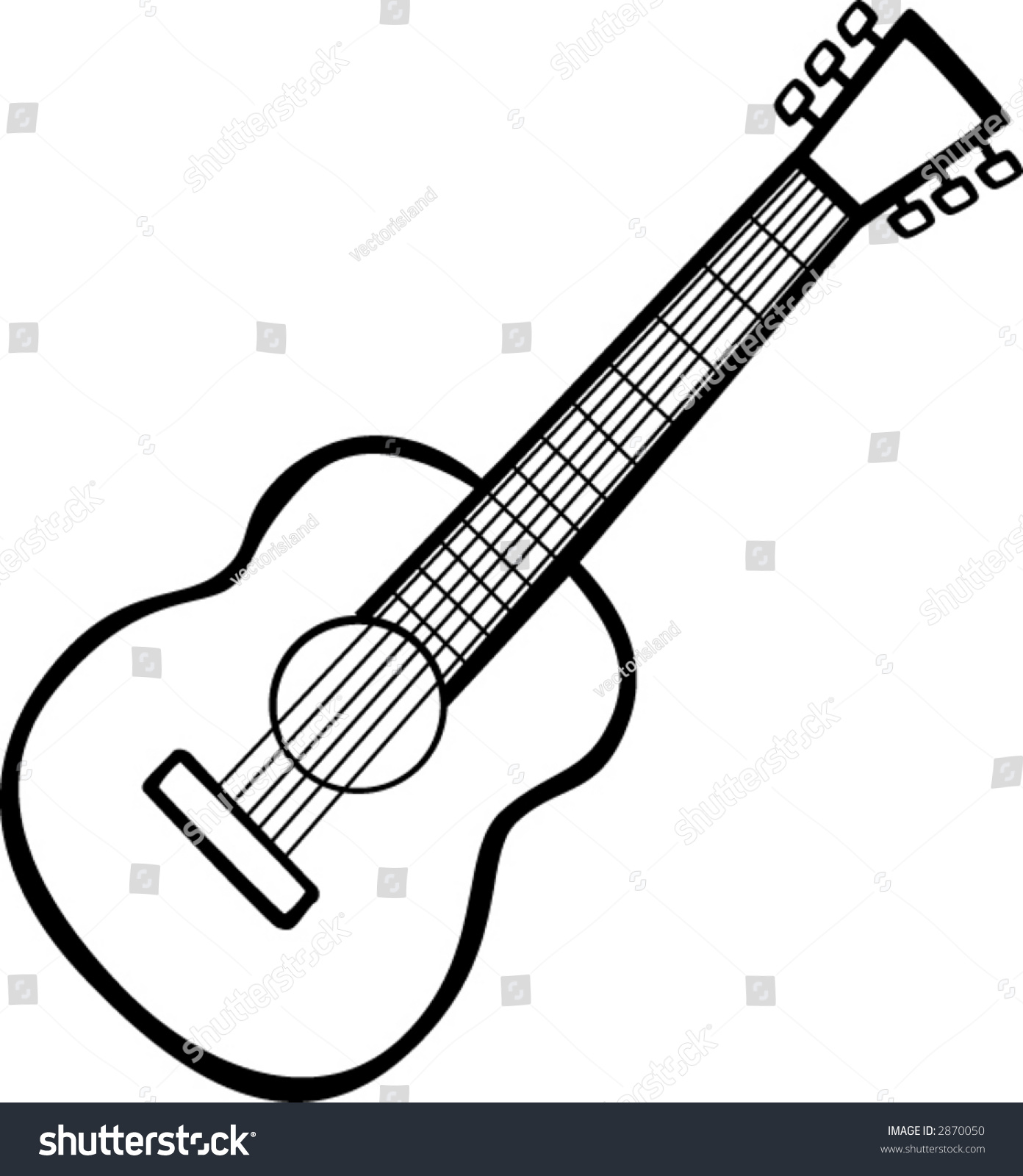 Classical Acoustic Guitar Stock Vector 2870050 - Shutterstock