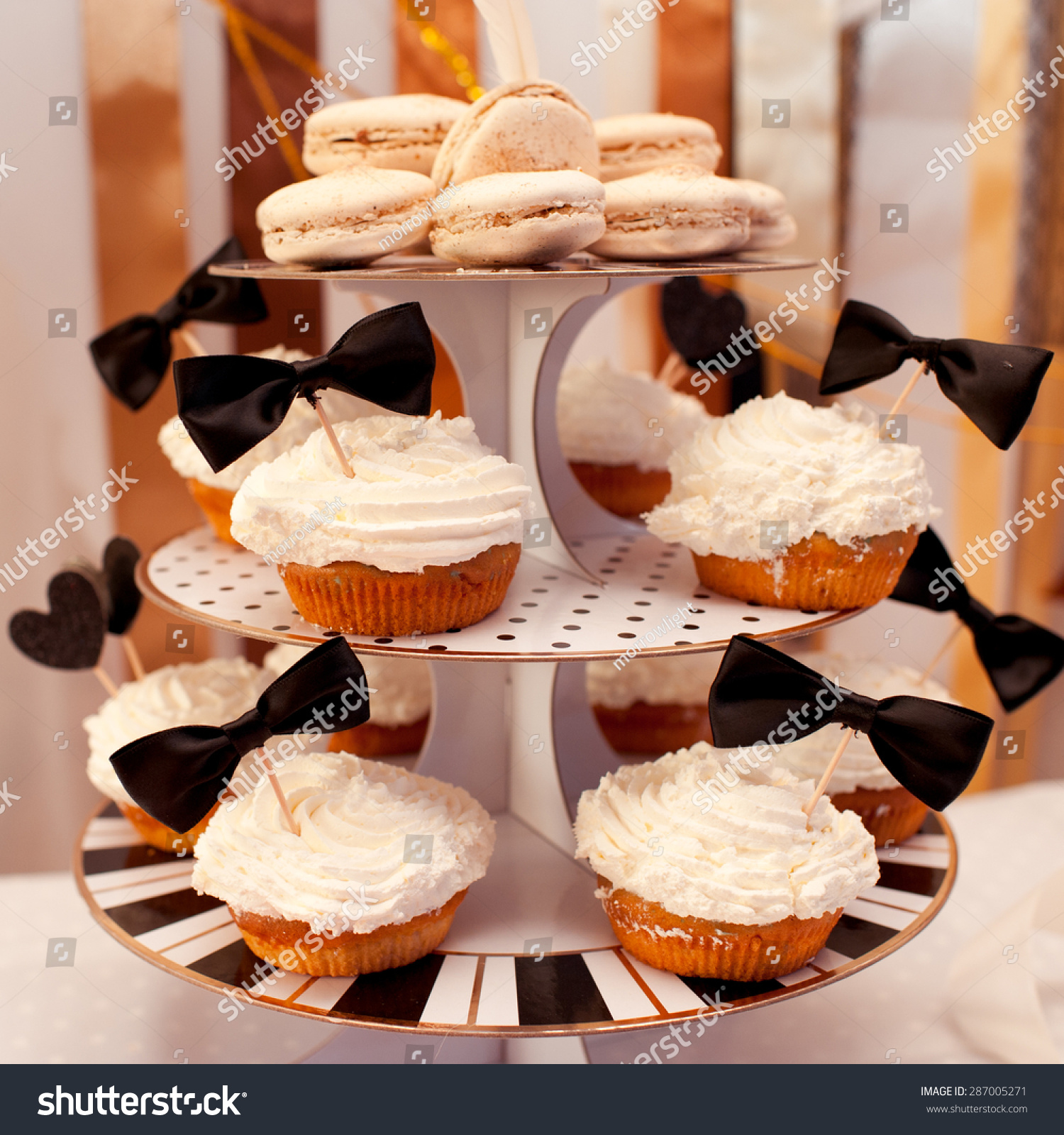 Muffins Cream On Top Cup Cakes Stock Photo Edit Now 287005271