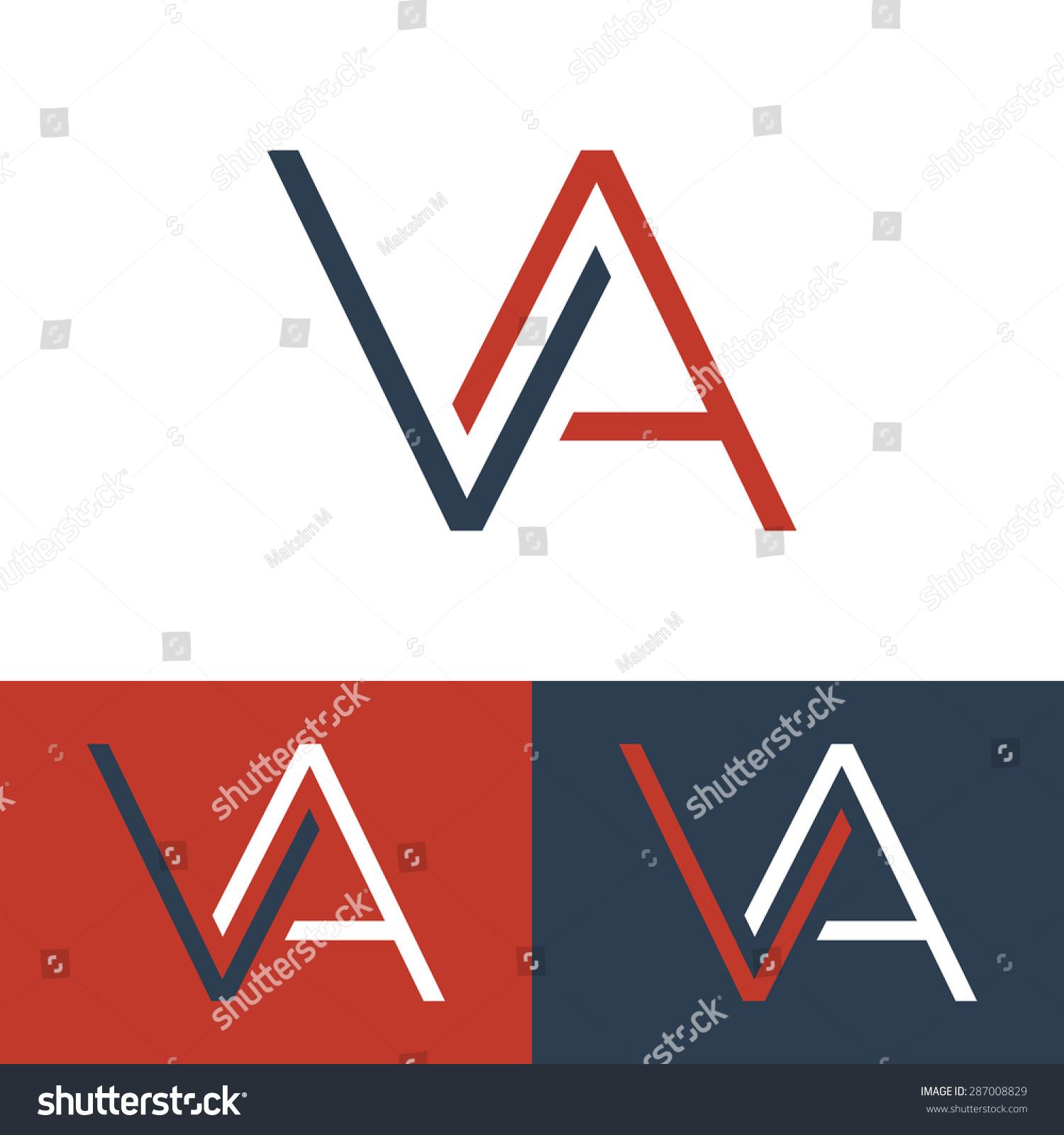 Letter V Logo Template Monogram Three Stock Vector 287008829 ...