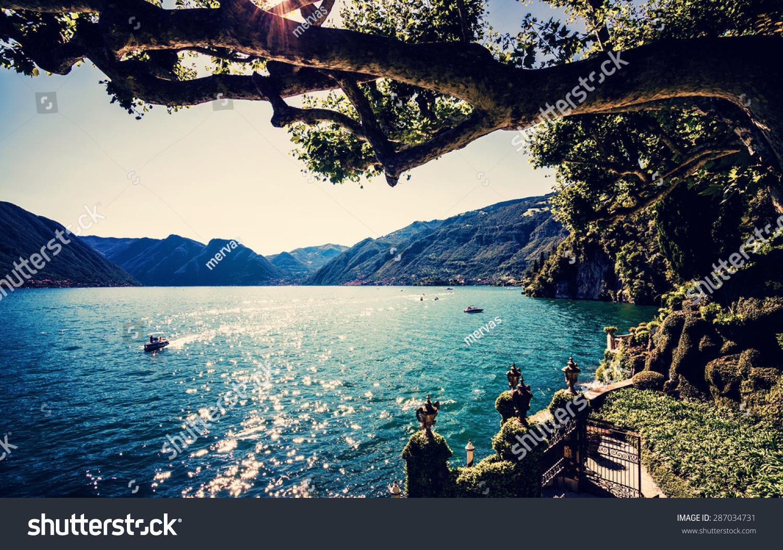 Living On A Lake : Lake Como People On Boat Ride Stock Photo 287034731 ...