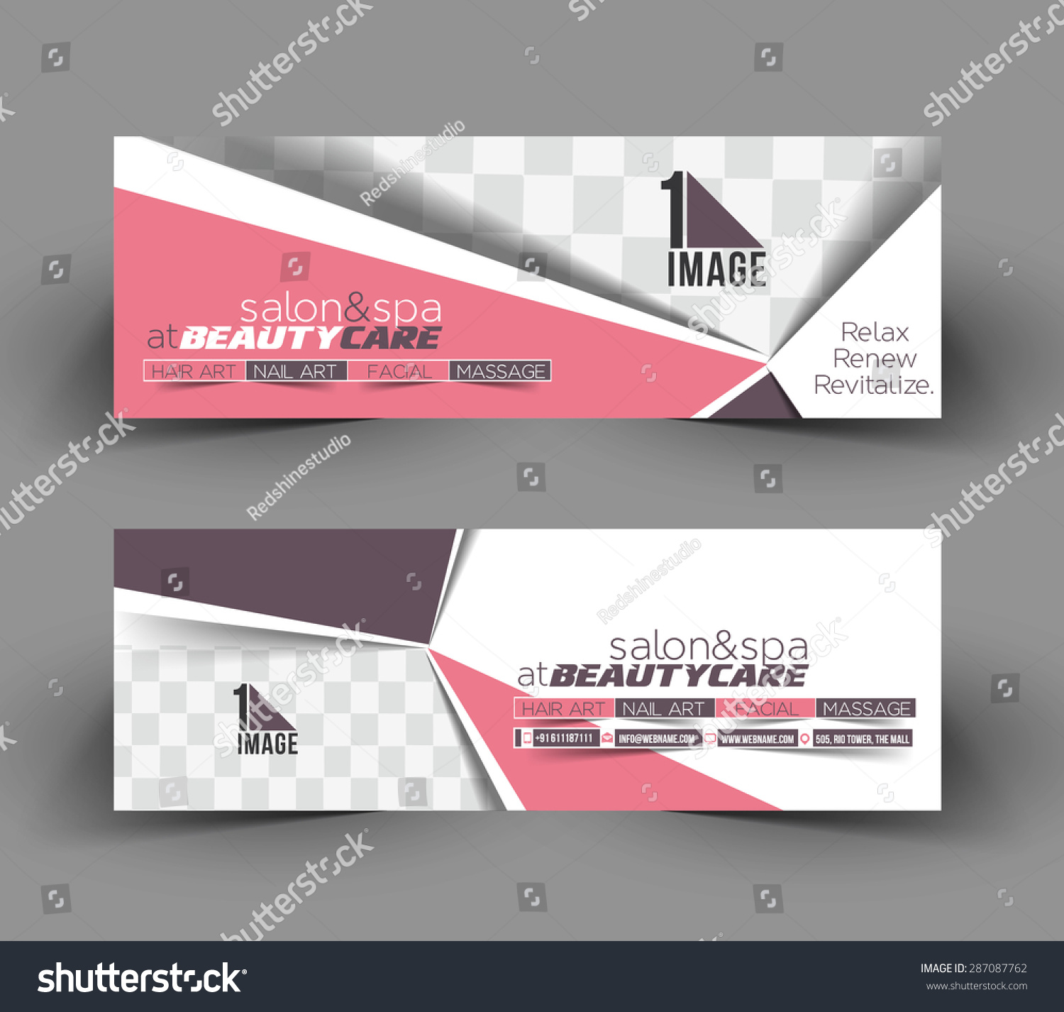 beauty care business ad web banner stock vector  beauty care business ad web banner header layout template