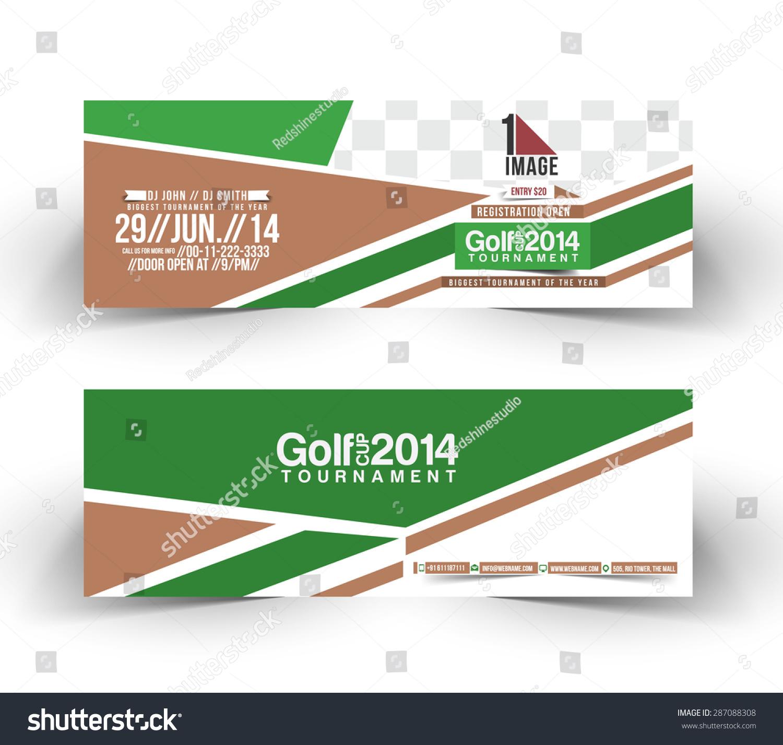 Golf Cup Header Banner Design Stock Vector Royalty Free 287088308