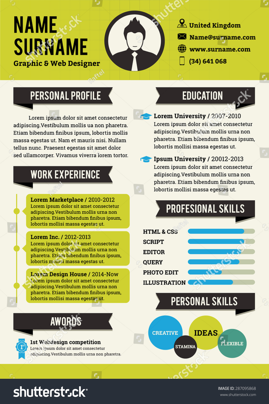 green personal curriculum vitae template  simplicity professional resume template  graphic and