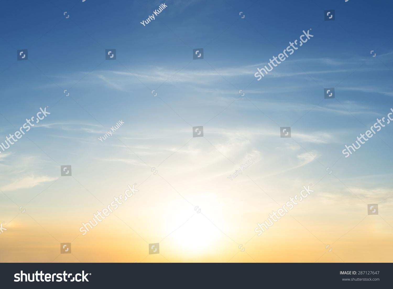 early morning sky scene #287127647
