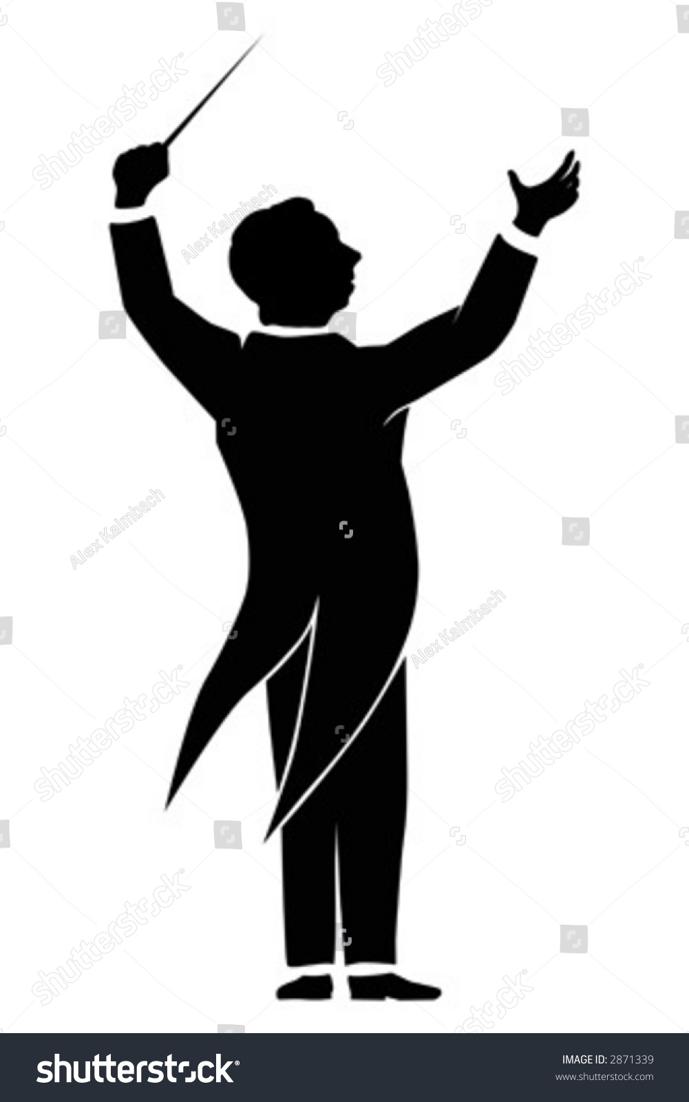 Orchestra Conductor Stock Vector 2871339 Shutterstock