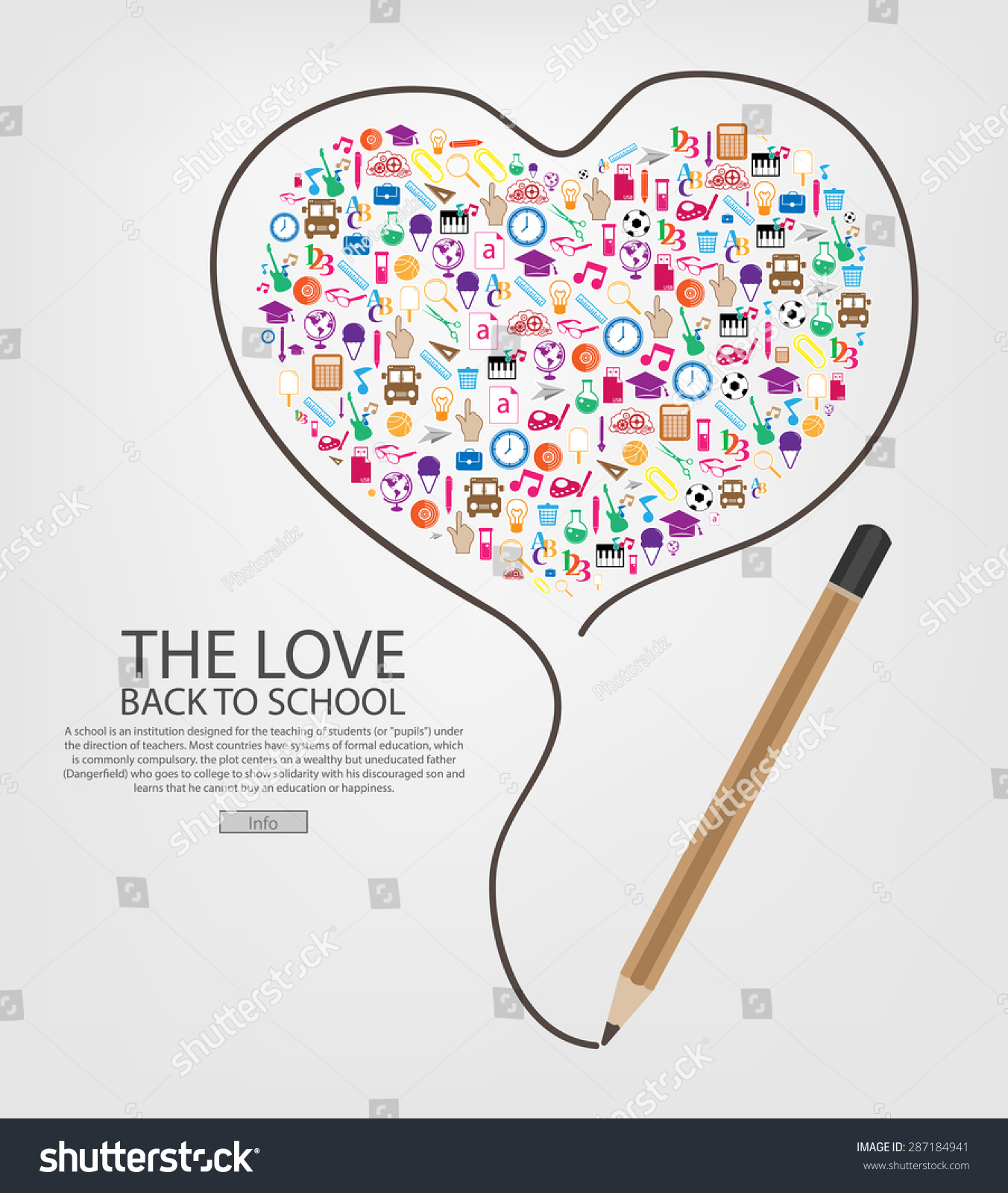 heart writing template