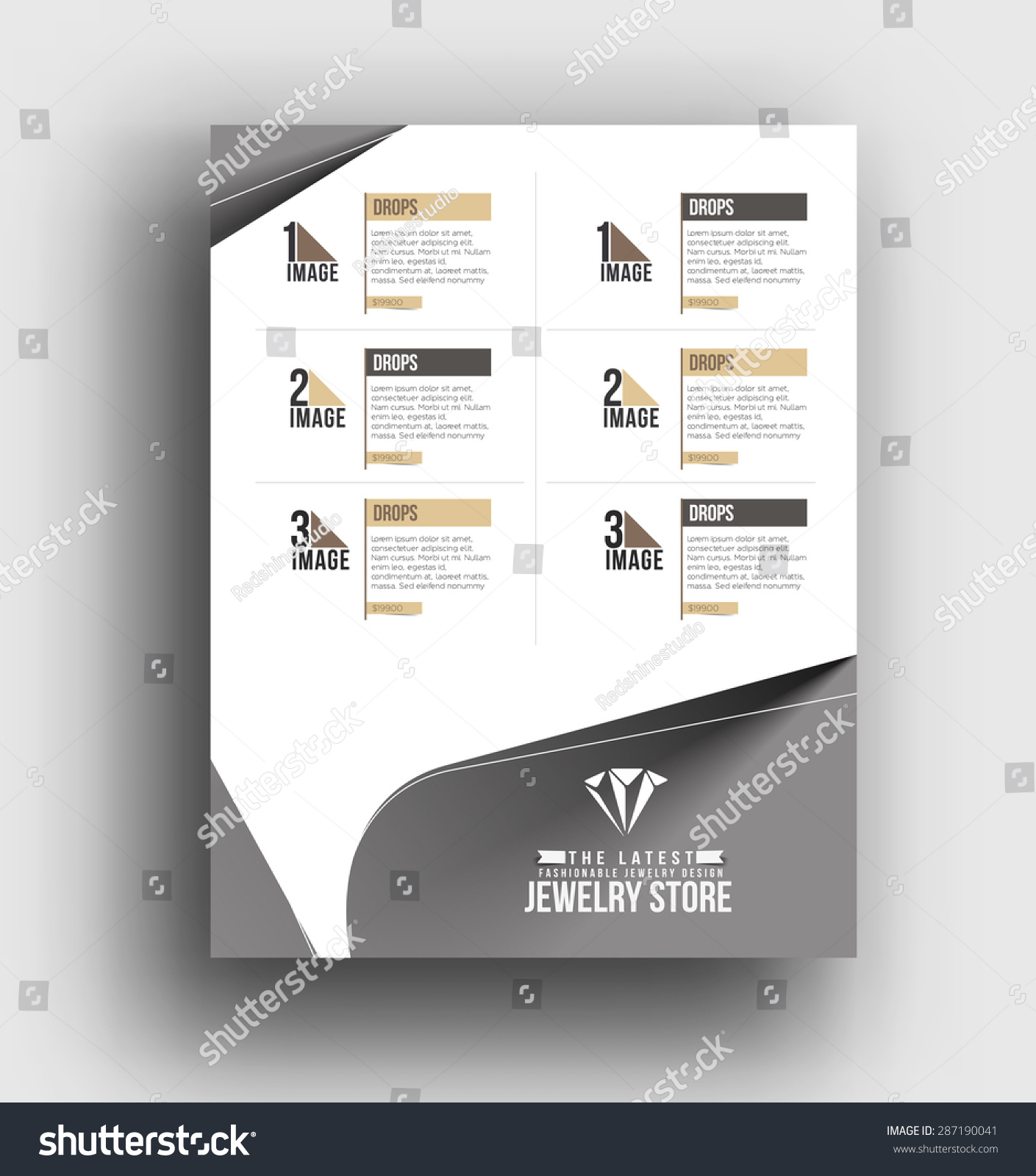 Jewelry Store Back Flyer Poster Template Stock Vector Royalty Free