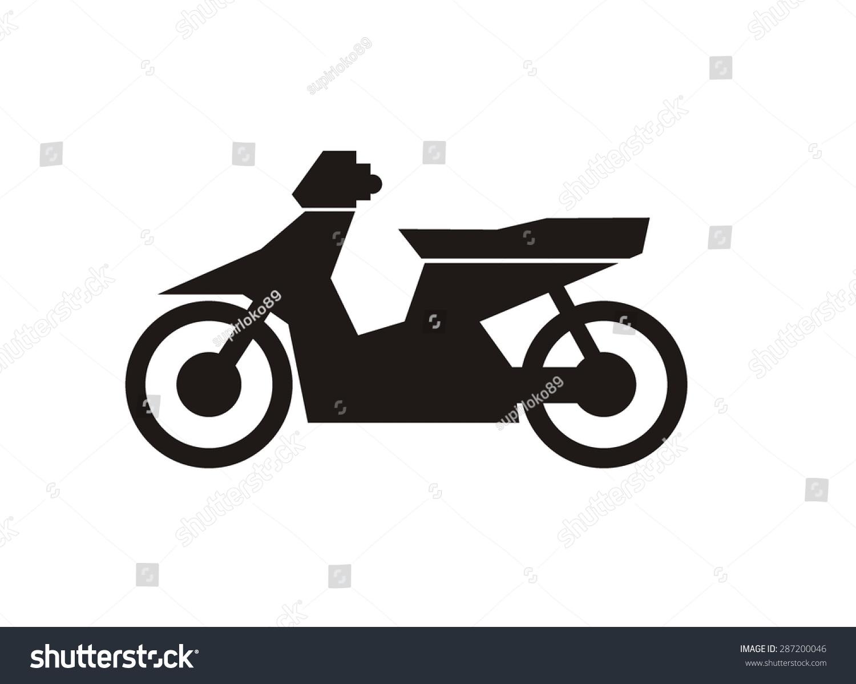 Motorcycle Simple Icon Stock Photo (Photo, Vector, Illustration ...