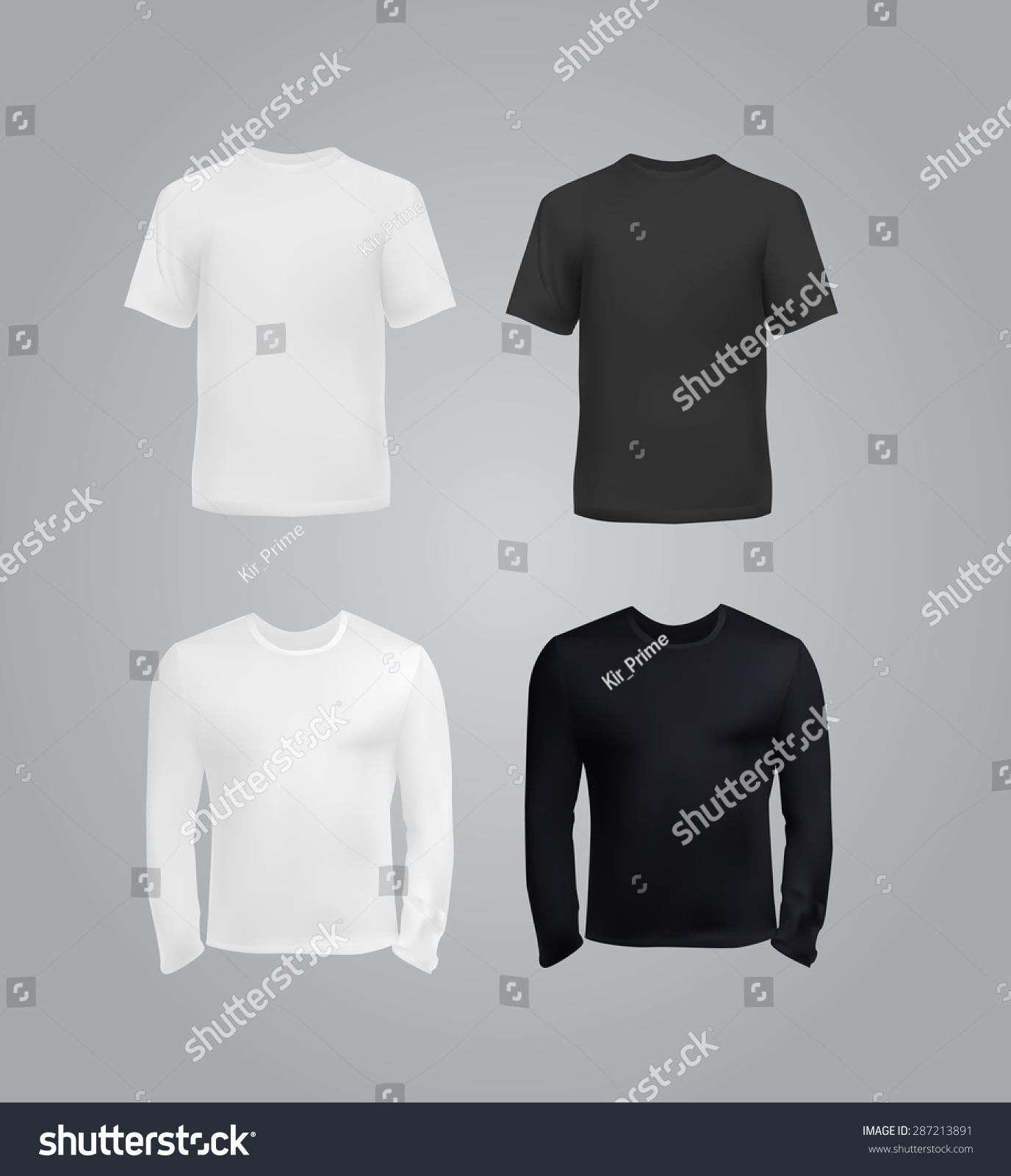 White t shirt eps - Black And White T Shirt Templates For Men Vector Eps10 Illustration