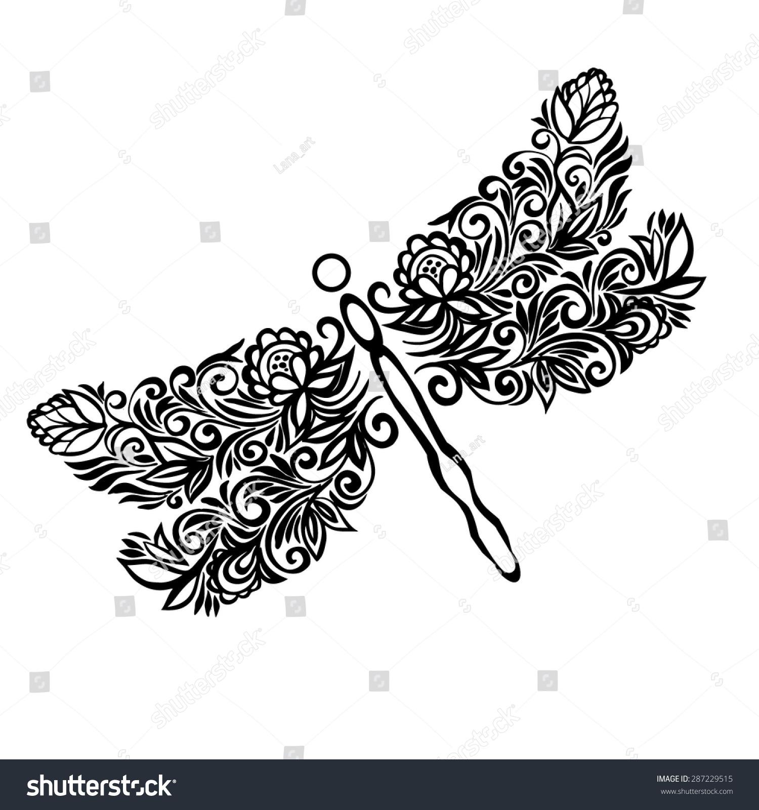 Dragonflya symbol femininitypatterned stylized image dragonfly dragonflya symbol of femininitytterned stylized image of a dragonfly painting biocorpaavc