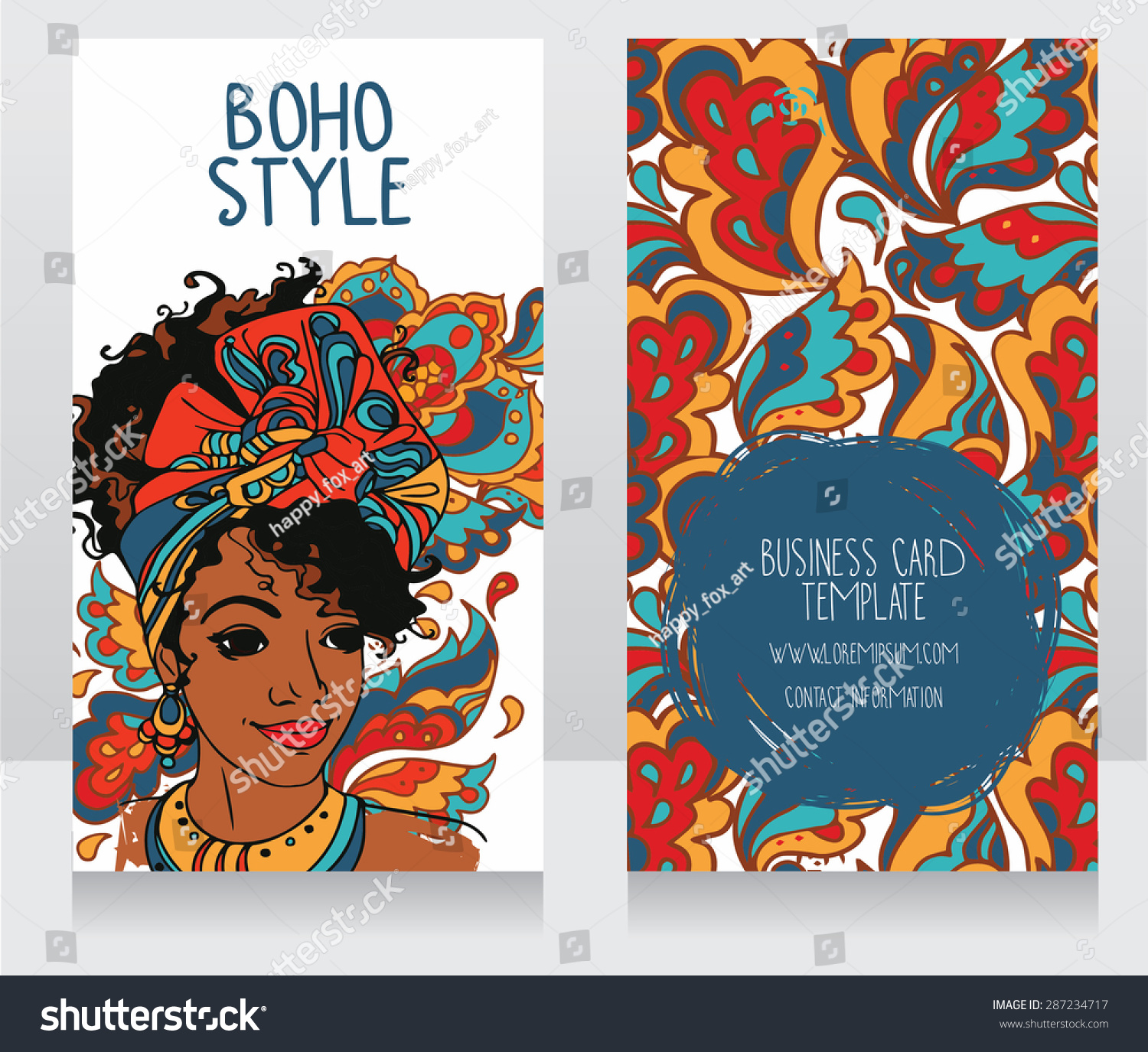 Cards boho style beautiful african american stock vector 287234717 cards for boho style with beautiful african american woman can be used as banners for kristyandbryce Image collections