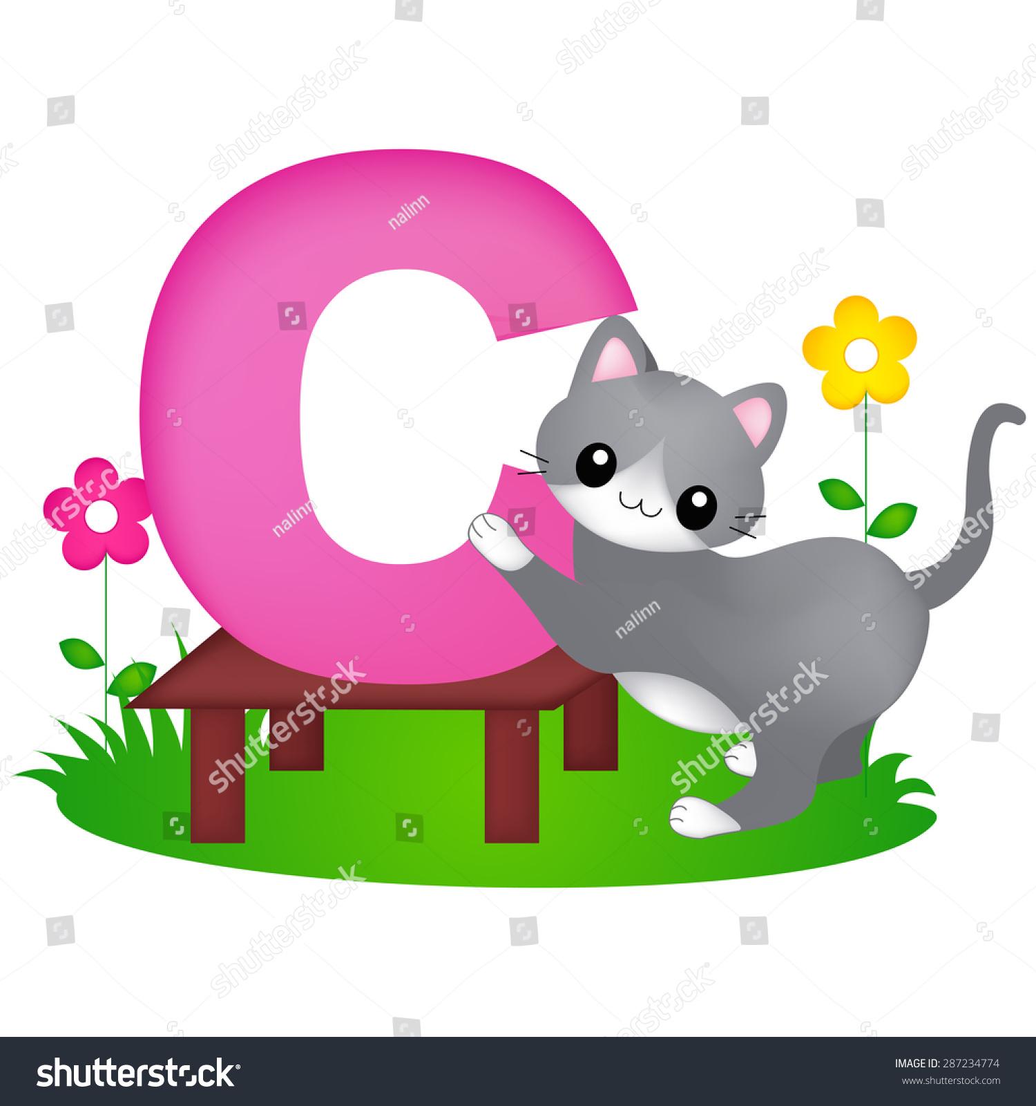 Cat alphabet clipart