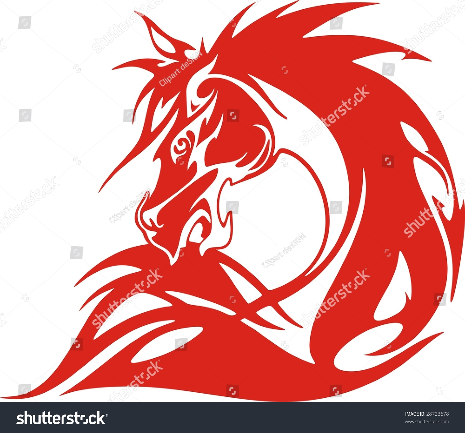 Flaming Horse Vector Illustration Great For Vehicle