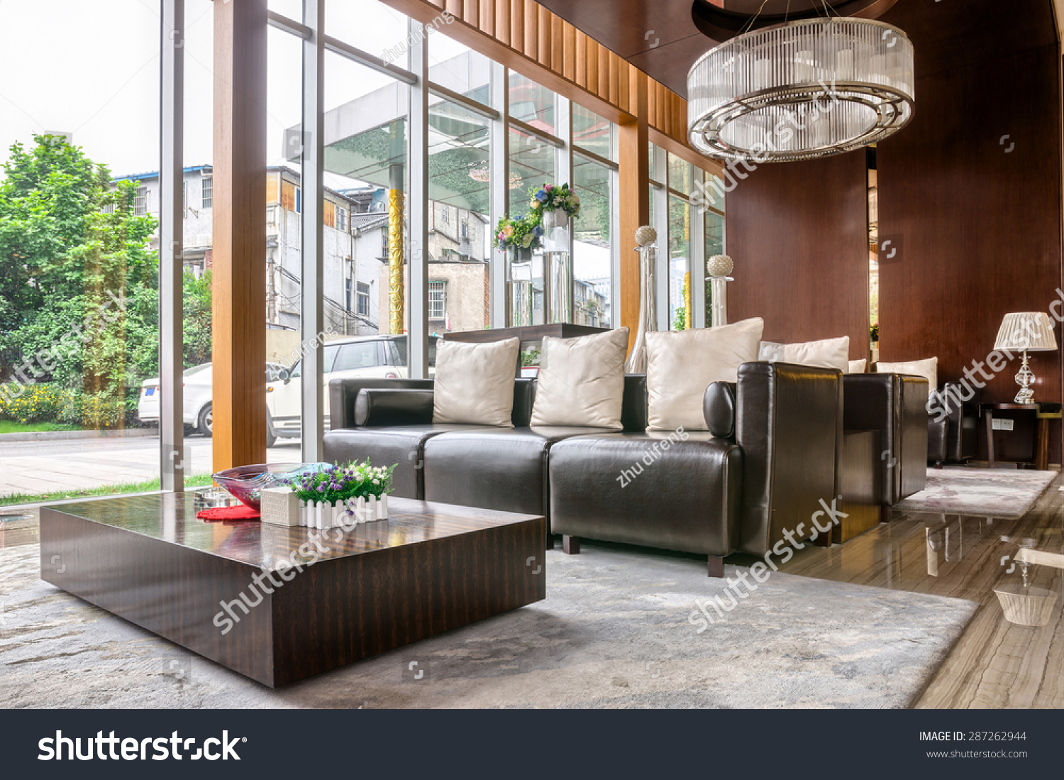 Hotel Foyer Furniture : Luxury hotel lobby furniture modern design stock photo