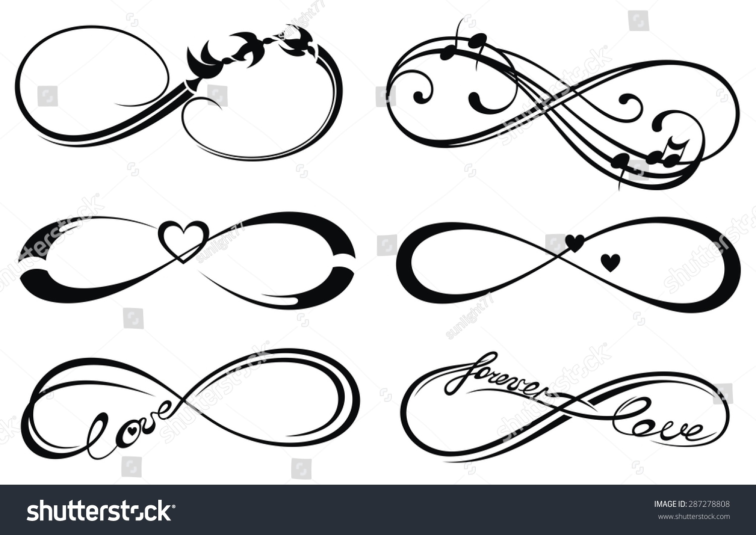 Infinity Love Forever Symbol Stock Vector Royalty Free 287278808