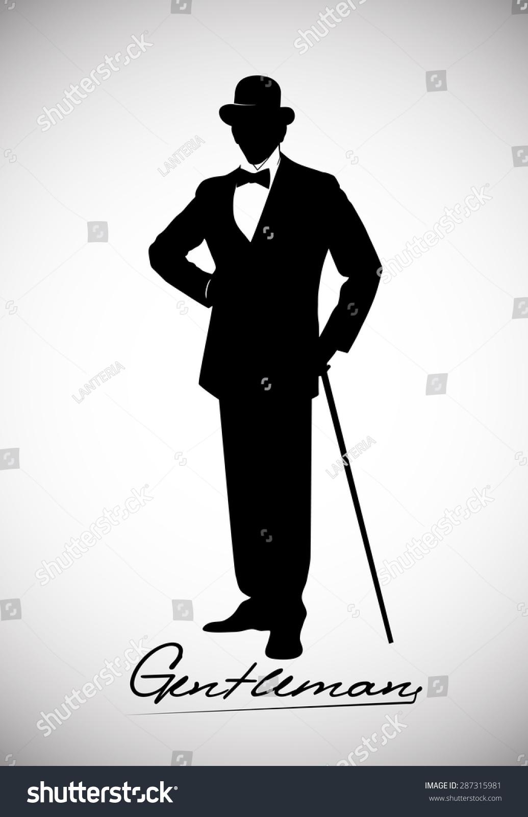 Man in suit silhouette clip art