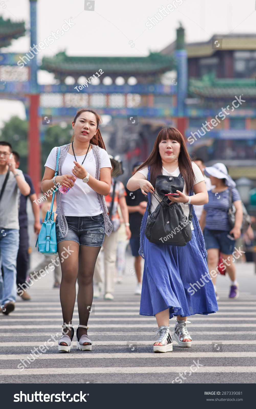 Beijingjune 9 2015 Two Fat Chinese Stock Photo Edit Now 287339081