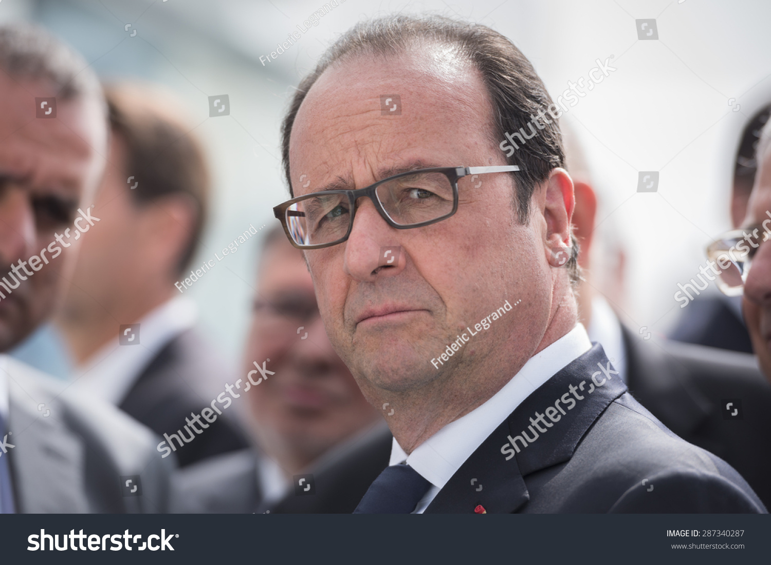 Le Bourget France  city photo : LE BOURGET, FRANCE JUNE 15, 2015 : French President Francois ...