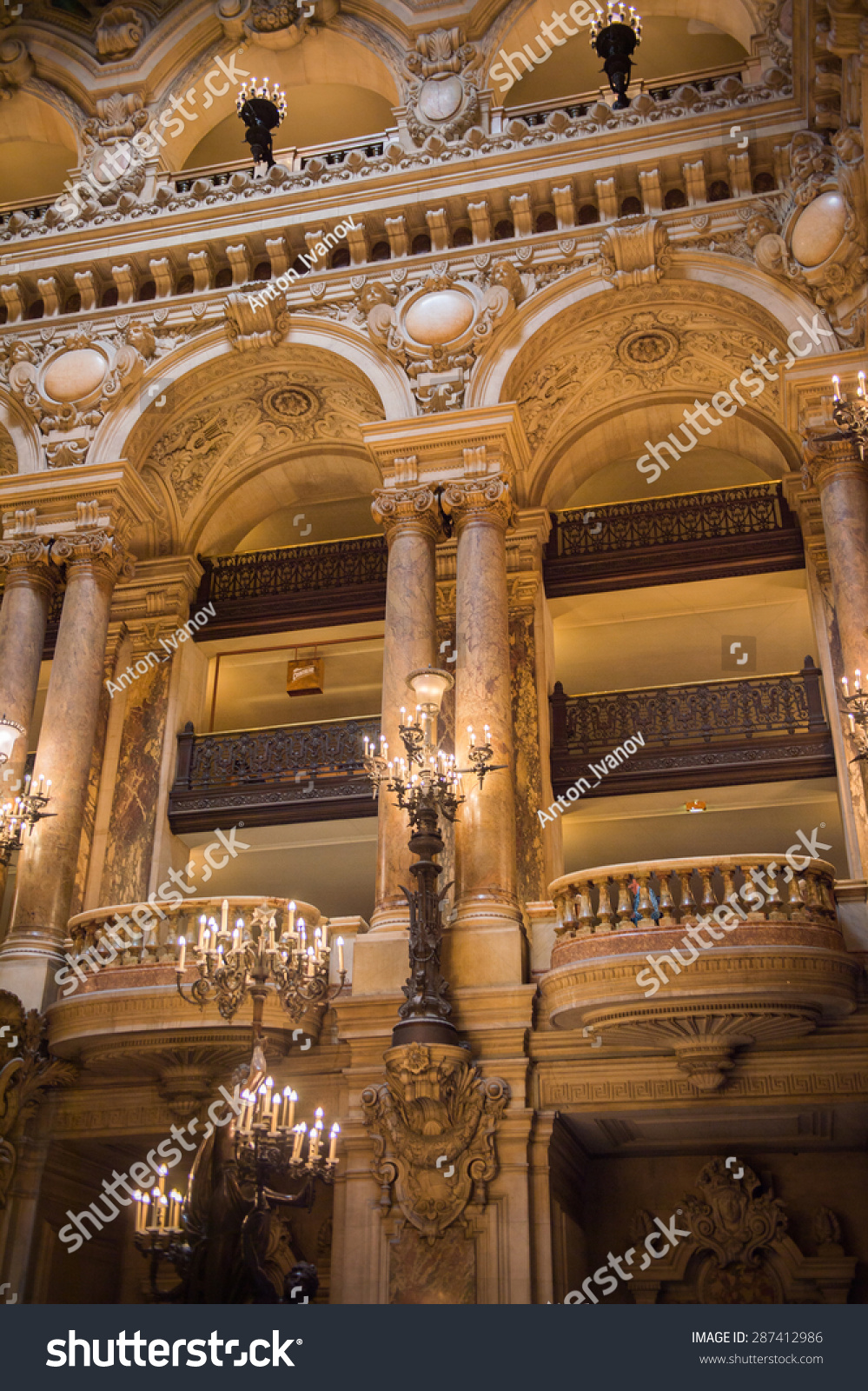 Paris France Jun 6 2015 Interior Stock Photo 287412986
