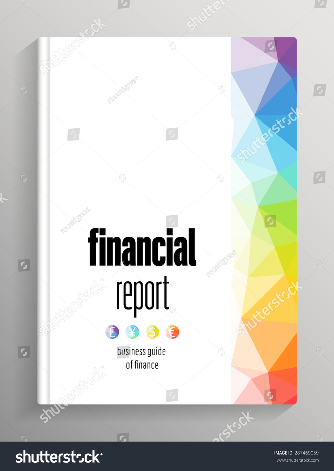 book brochure cover financial report stock vector 287469059 book brochure cover financial report