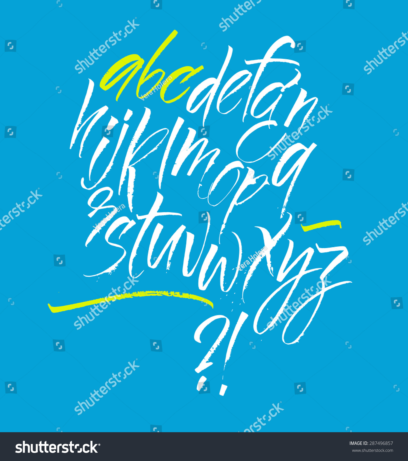 Vector alphabet Hand drawn letters