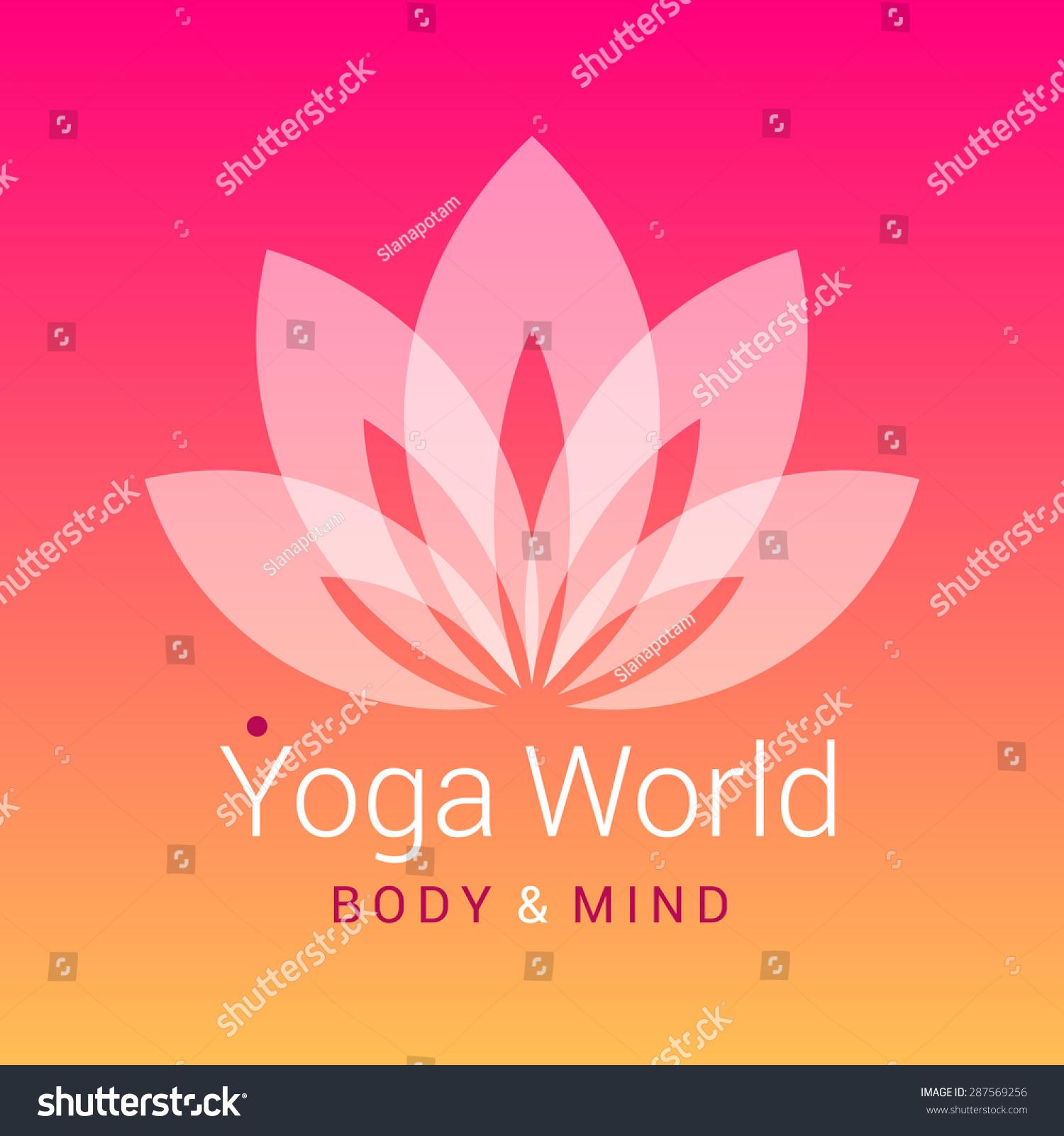 Fivepetals Lotus Flower Symbol Yoga On Stock Vector Royalty Free