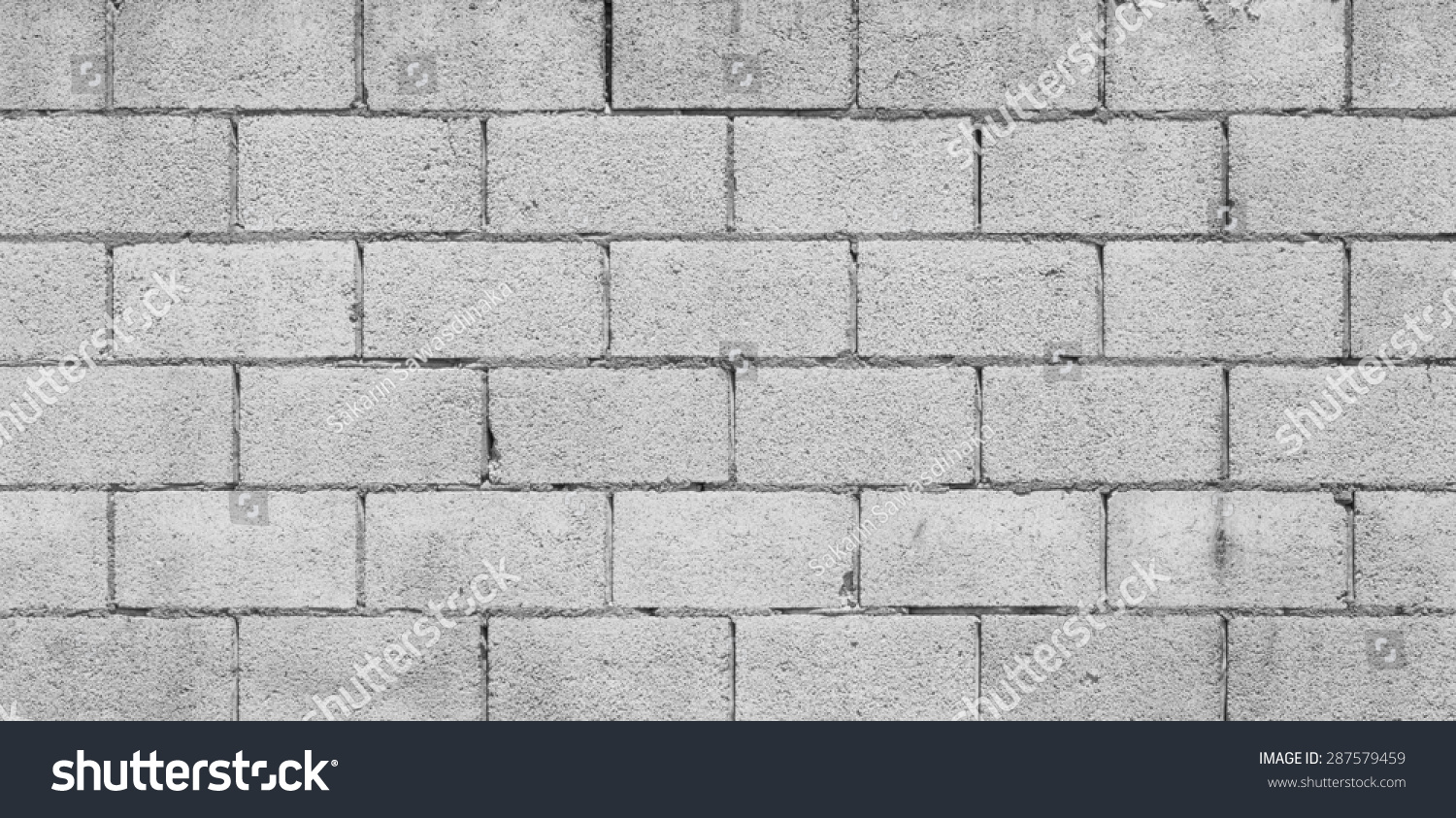Seamless Block Wall : Concrete block wall texture background seamless stock
