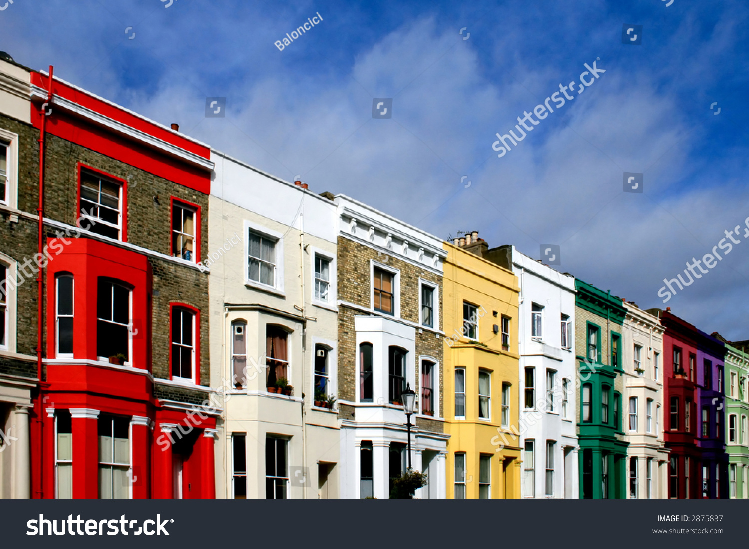 Color Houses famous london street color houses stock photo 2875837 - shutterstock