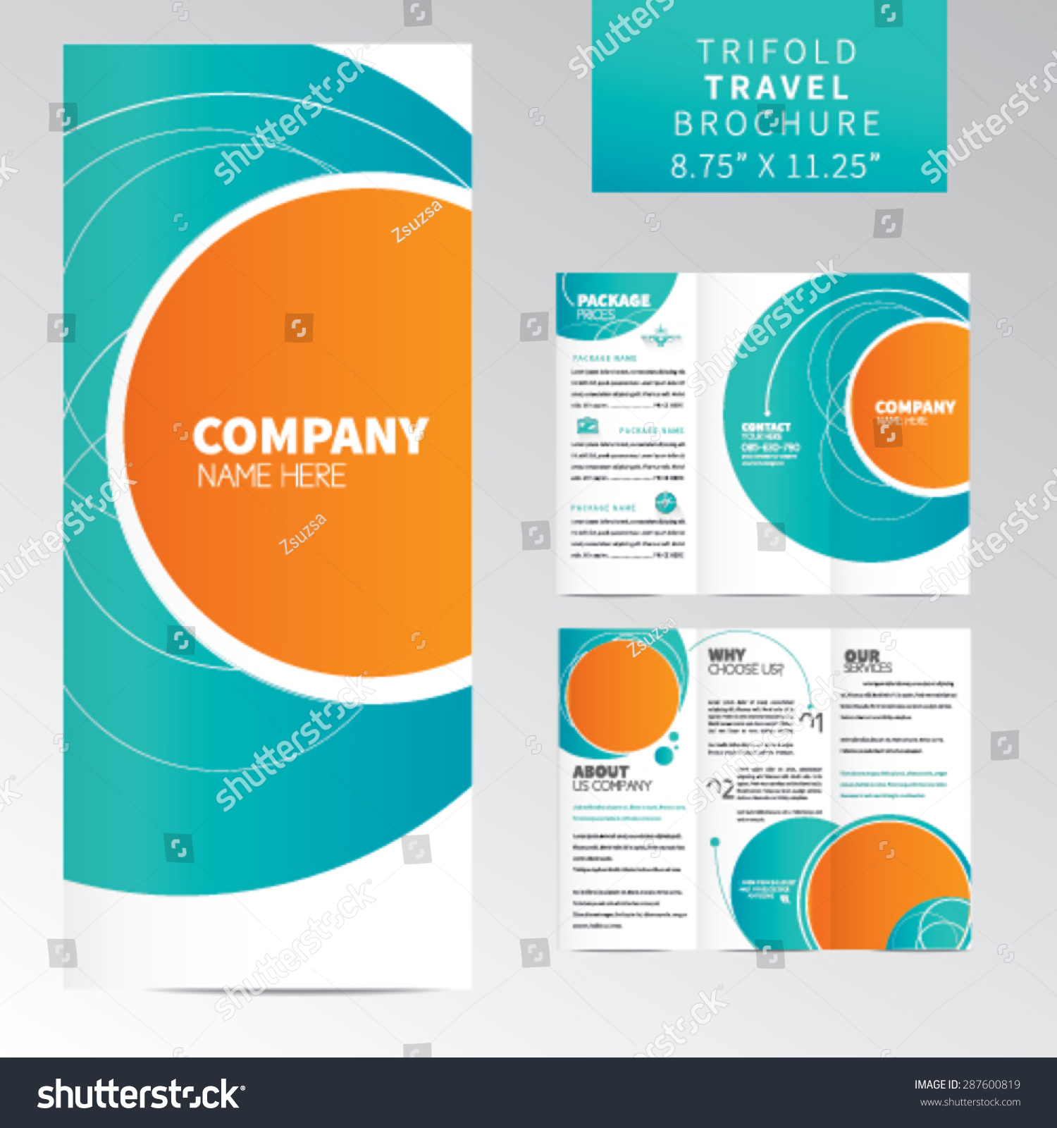 trifold travel brochure