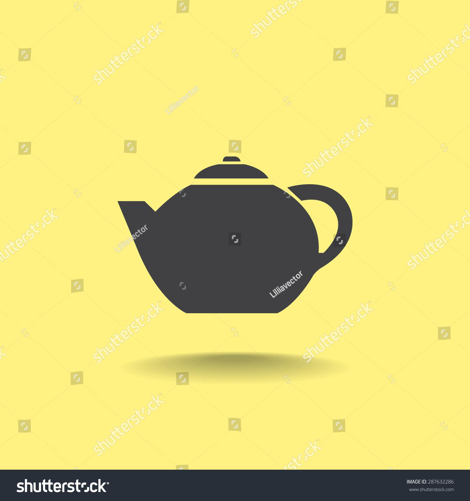 Teapot vector icon   EZ Canvas