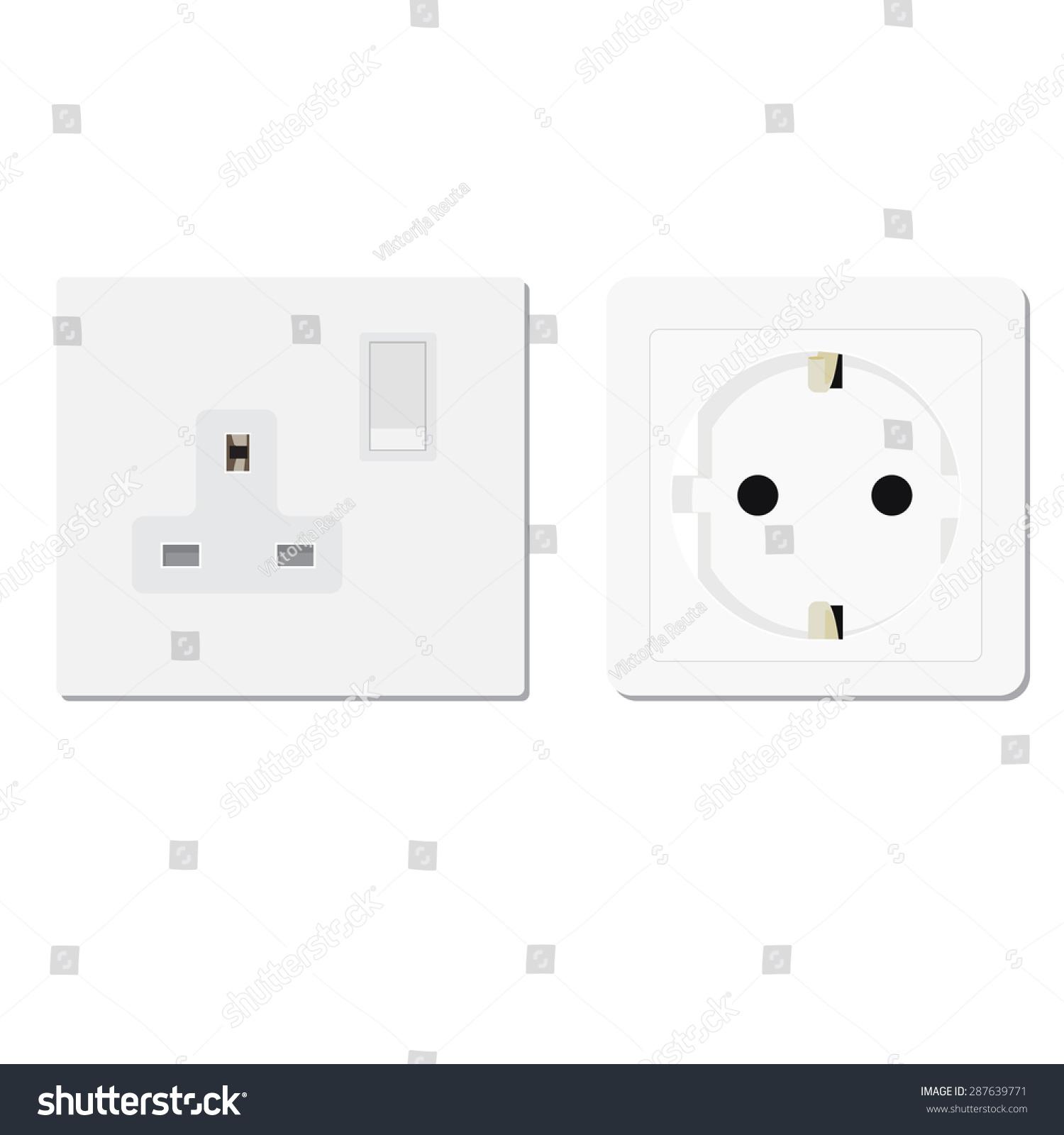 White European Uk Socket Vector Illustration Stock Vector (2018 ...