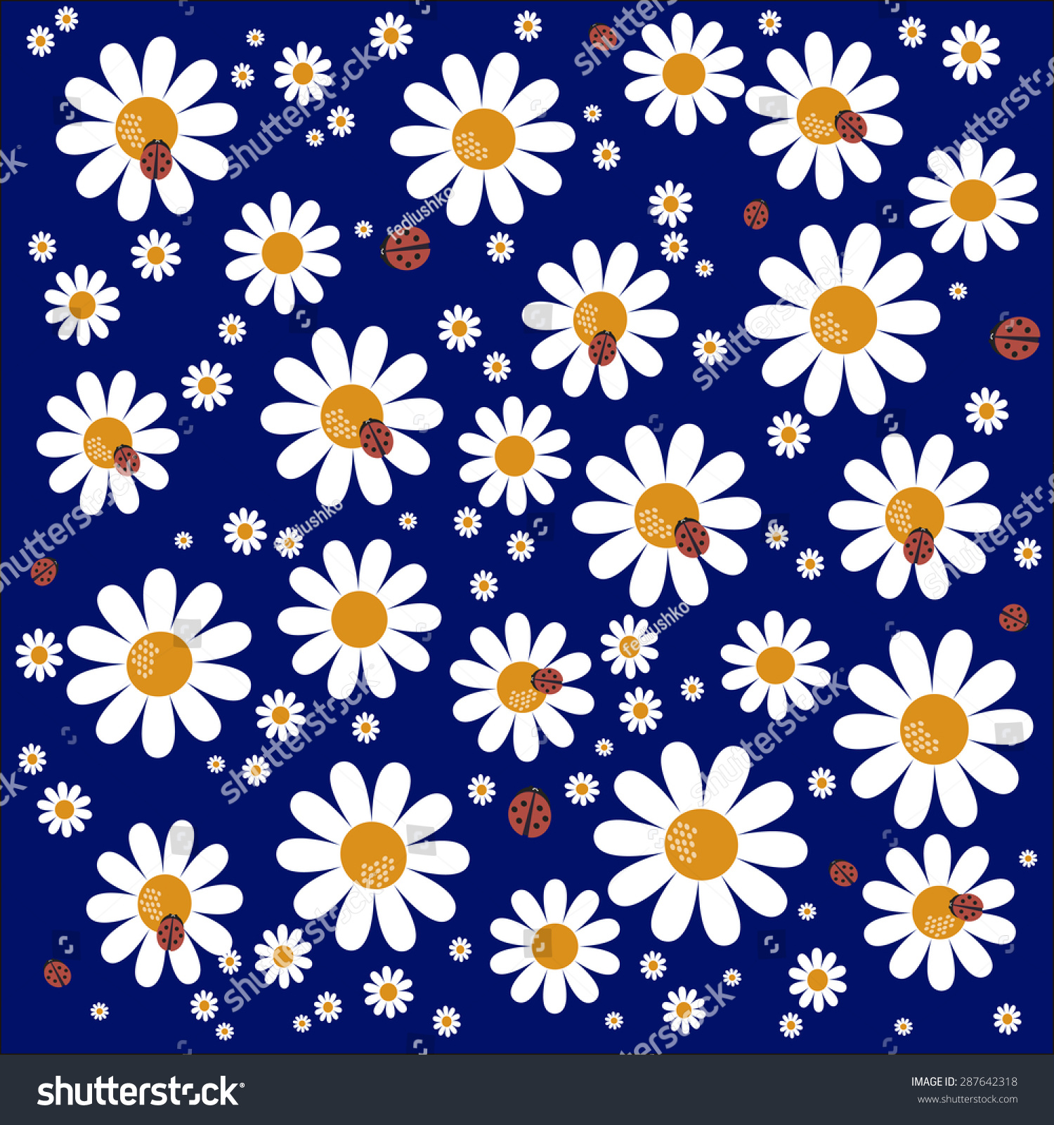 Illustration Daisy Flower Background Stock Illustration 287642318