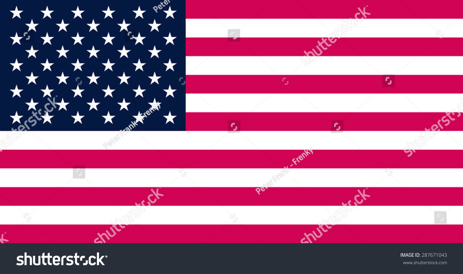 United States Flag Pantone Color Stock Vector Royalty Free